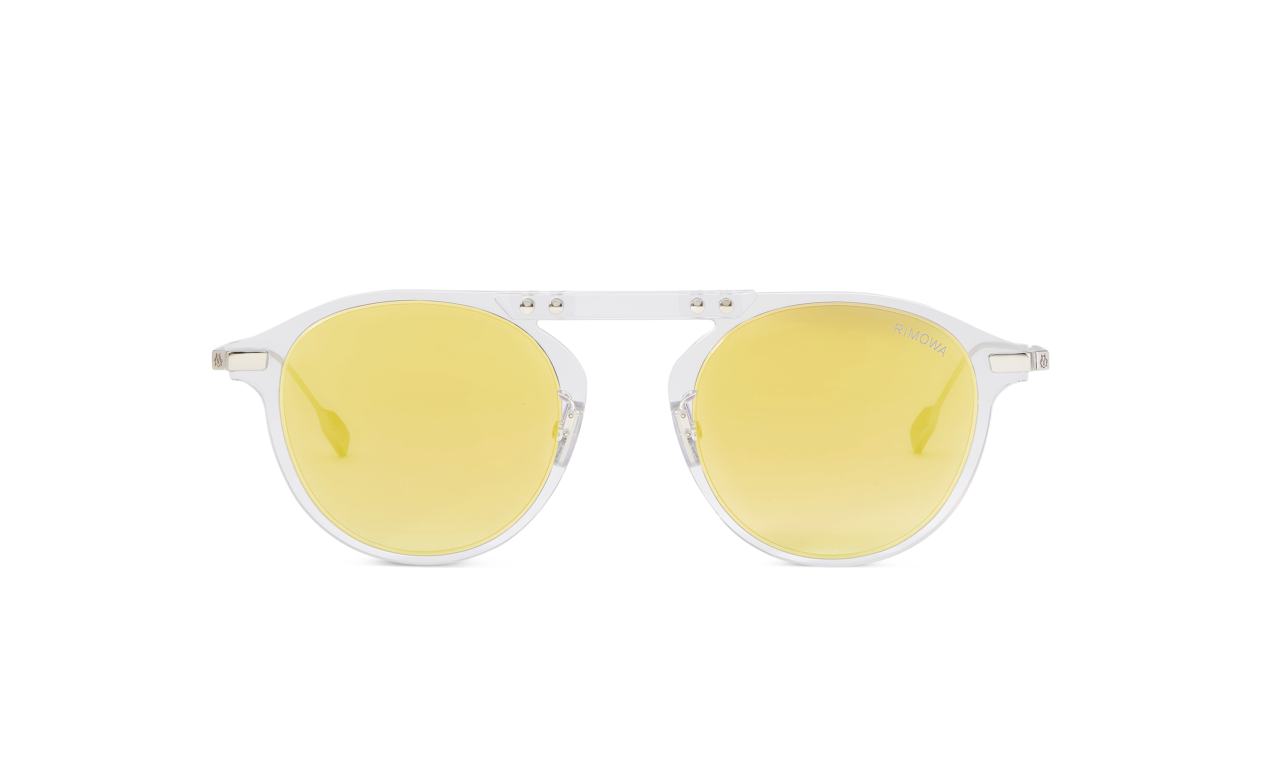 RIMOWA Eyewear Bridge Pantos Crystal Yellow Mirror