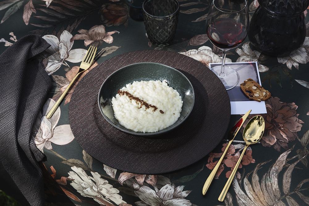 Ricette autunno, risotto parmigiano e caffe
