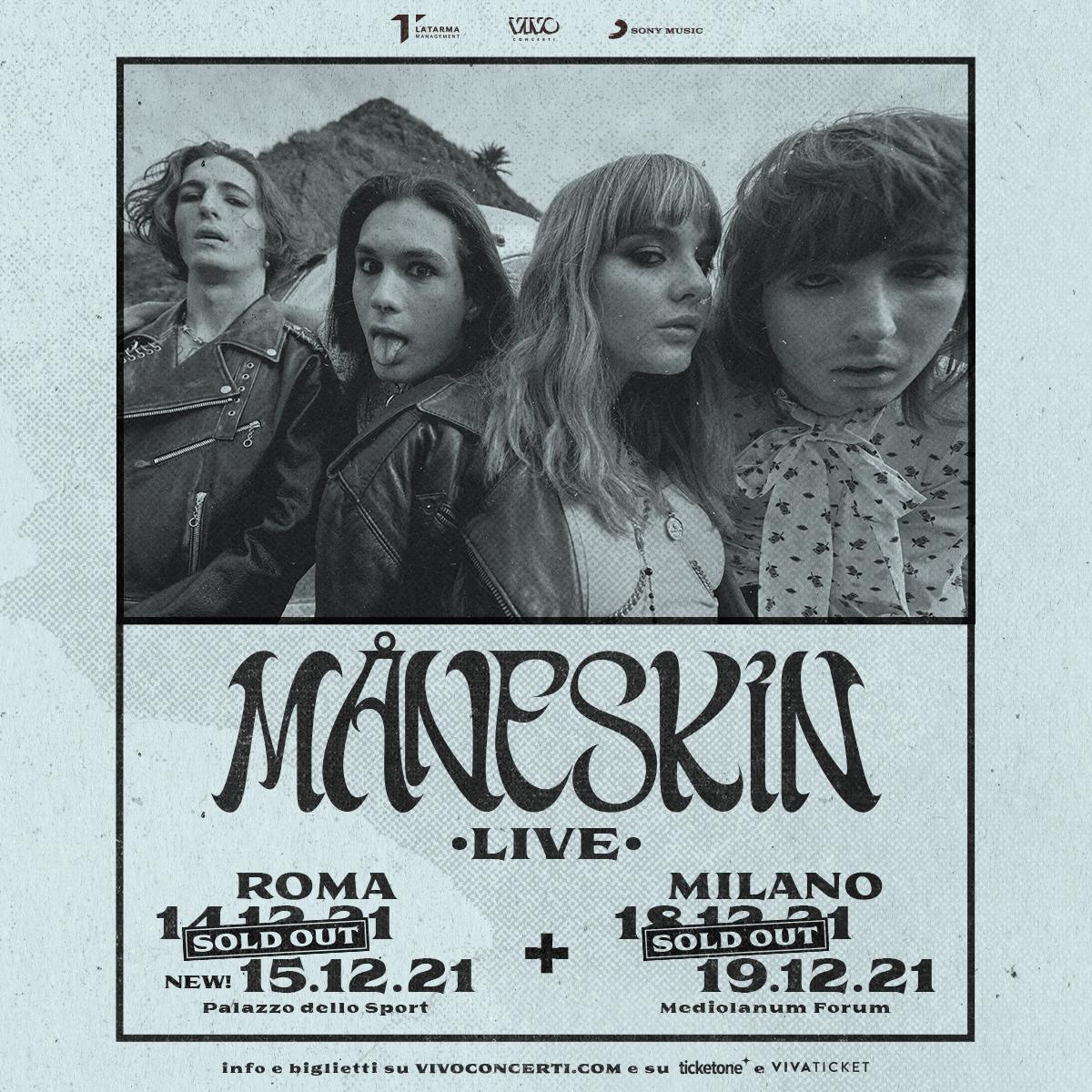 MÅNESKIN TOUR 2021